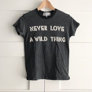 Wildfox grey slogan T-shirt